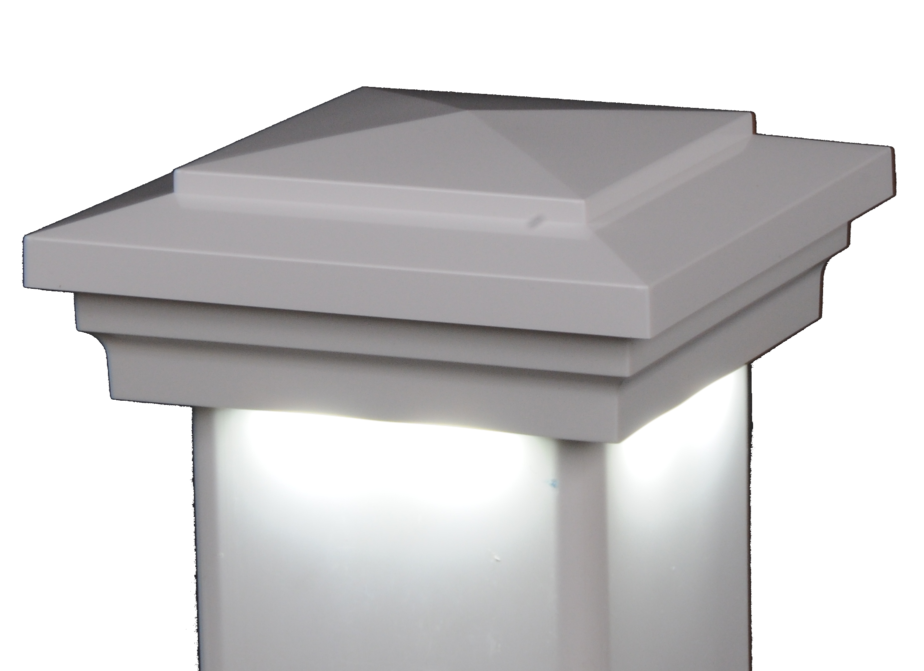 Cape May Downward low voltage hard wired vinyl post cap lighting light LMT solar