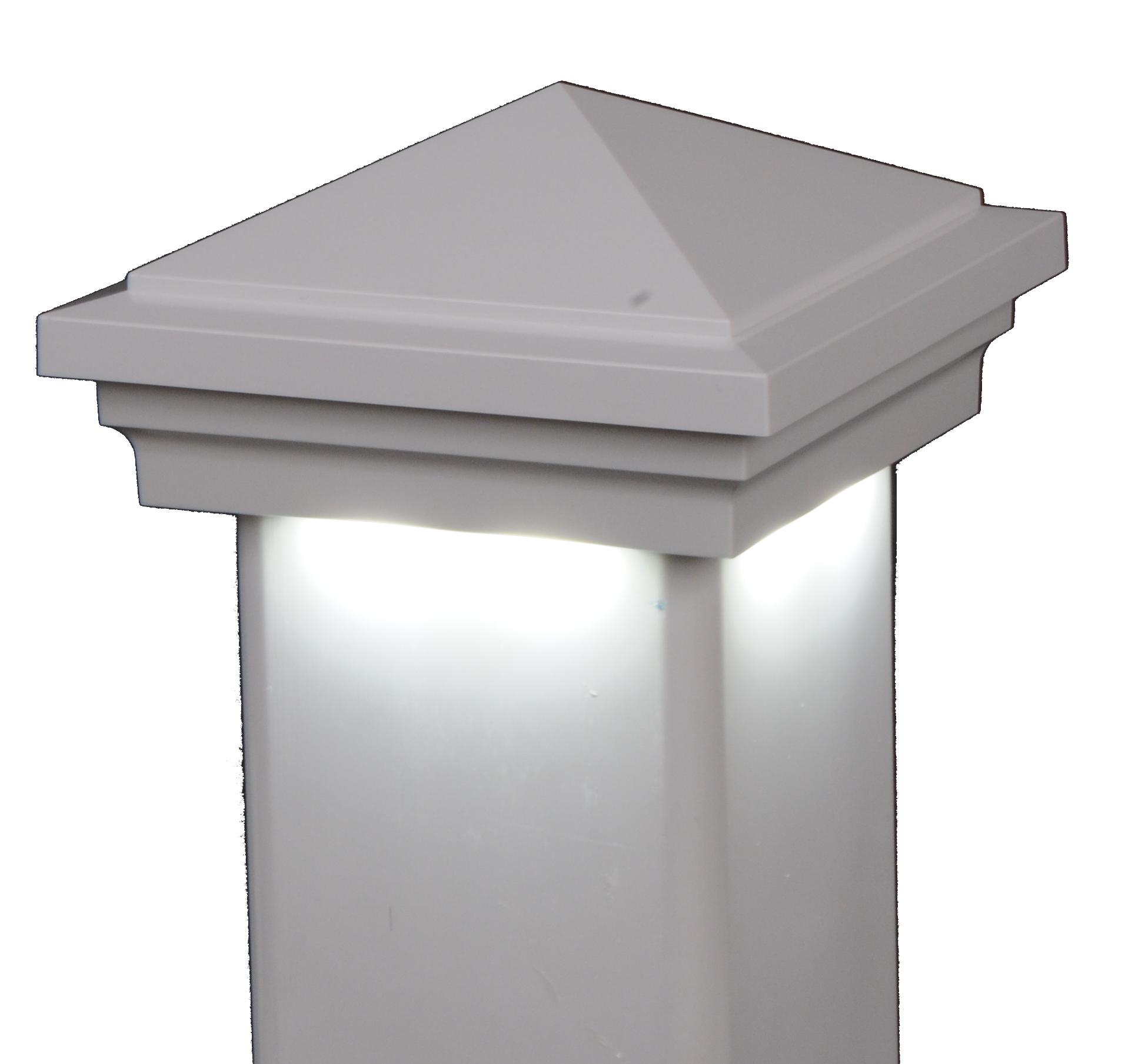 Haven Downward low voltage hard wired vinyl post cap lighting light LMT