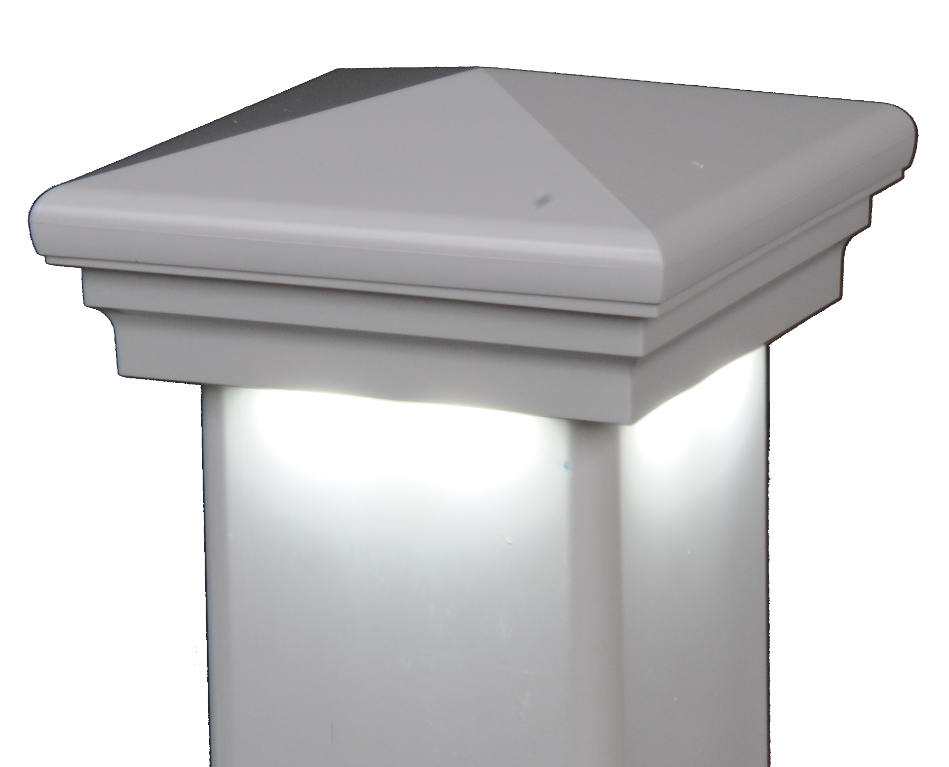 Neptune Downward low voltage hard wired vinyl post cap lighting light LMT solar
